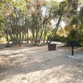 Typical campsite at Mesa Campground.- Silverwood Lake State Recreation Area