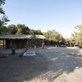 Group campsite at Silverwood Lake State Recreation Area.- Silverwood Lake State Recreation Area