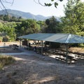 Picnic shelter at Cleghorn Day Use Area.- Silverwood Lake State Recreation Area