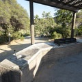 Picnic shelter/pavilion at Rio Group Campground.- Silverwood Lake Group Campgrounds