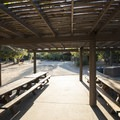 Picnic shelter/pavilion at Baranca Group Campground.- Silverwood Lake Group Campgrounds