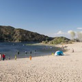 Silverwood Lake Swim Beach.- Silverwood Lake Swim Beach
