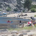 Big Bear Lake West Shore Beach.- Big Bear Lake West Shore Beach