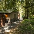 Restroom facilities at Entrance Bay Campground.- Entrance Bay Campground