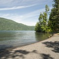 Spring Bay Picnic Ground on the east shore of Cultus Lake.- Spring Bay Picnic Ground