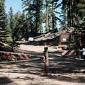 Trailhead entrance from the parking lot. - Island Lake via Round Lake Trail