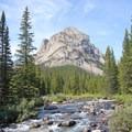 Thunder Mountain from the bridge to Sundance Pass.- Black Canyon Lake
