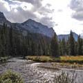 Fly fishing the Lake Fork.- Black Canyon Lake