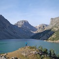 Morning sun brings out the lake's turquoise color.- Black Canyon Lake