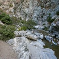 Continue hiking past the Bridge to Nowhere to access the Narrows and its backcountry camp and swimming holes.- Bridge to Nowhere / East Fork San Gabriel River Trail