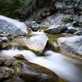 The Narrows section of the canyon is full of scenic small waterfalls.- Bridge to Nowhere / East Fork San Gabriel River Trail