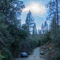 Parking for the Boulder Creek Falls Trail.- Boulder Creek Falls