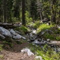 Lots of marble rock on this trek.- Sky High Lakes Basin
