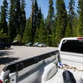 Parking for the trailhead.- Sky High Lakes Basin