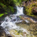 The upper fall of the last creek you cross. - Sky High Lakes Basin
