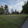 Lawn bowling and croquet field in Central Park in Pasadena.- Pasadena Central Park