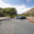 Day use parking at Sycamore Canyon Campground.- Sycamore Canyon Campground