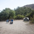 Typical campsite at Sycamore Canyon Campground.- Sycamore Canyon Campground