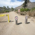 Entrance to Sycamore Canyon Road just north of the campground in Point Mugu State Park.- Sycamore Canyon Campground