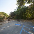ADA-accessible campsite at Sycamore Canyon Campground.- Sycamore Canyon Campground