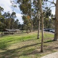 Lower picnic shelters at Kenneth Hahn State Recreation Area.- Kenneth Hahn State Recreation Area