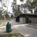 Restroom facilities at Gwen Moore Lake, Kenneth Hahn State Recreation Area.- Kenneth Hahn State Recreation Area