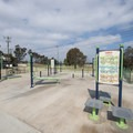Upper fitness station at Kenneth Hahn State Recreation Area.- Kenneth Hahn State Recreation Area