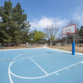 Basketball court at Kenneth Hahn State Recreation Area.- Kenneth Hahn State Recreation Area