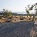 Typical campsite at Mojave River Forks Regional Park Campground.- Mojave River Forks Regional Park Campground