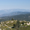 View west to the San Gabriel Mountains from Keller Peak Fire Lookout Tower.- Keller Peak Fire Lookout Tower