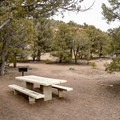 The day use area provides tables and grills.- Hickison Petroglyph Recreation Area Interpretive Trail