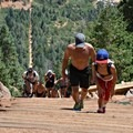 A the Manitou Springs Incline is a challenge for all ages.- The Manitou Springs Incline