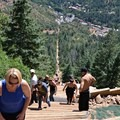 Hundreds of participants hike this trail each day.- The Manitou Springs Incline