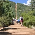 The mission ahead, the Manitou Springs Incline.- The Manitou Springs Incline