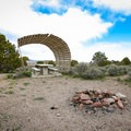Some sites have wind shelters.- Hickison Petroglyph Recreation Area Campground