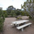 Sites have tables and fire pits.- Hickison Petroglyph Recreation Area Campground