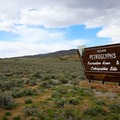 Entrance from Highway 50.- Hickison Petroglyph Recreation Area Campground