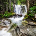A view of the upper fall which is 25 ft tall- Brandy Creek Falls