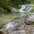 the third section is also a nice place to take a dip in the crisp mountain water- Brandy Creek Falls