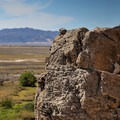 Overlooking the Mojave National Preserve.- Desert Studies Center