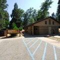 Restroom and shower facility at Dogwood Family Campground.- Dogwood Family Campground