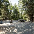 ADA-accessible campsite at the day use picnic area at Dogwood Family Campground.- Dogwood Family Campground