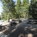 Day use picnic area at Dogwood Family Campground.- Dogwood Family Campground