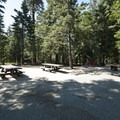 ADA-accessible double site at Dogwood Family Campground.- Dogwood Family Campground