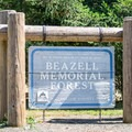 Beazell Memorial Forest sign.- Beazell Memorial Forest
