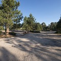 Dispersed camping area and parking area at Lookout Point.- Lookout Point
