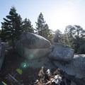 Granite boulders along the rim at Bluff Mesa Group Camp.- Bluff Mesa Group Camp