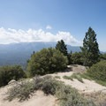 View southeast to San Bernardino Peak (10,649 ft) and San Gorgonio Mountain (11,502 ft) from Grand View Point.- Grand View Point Hike