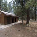 Restroom facilities at Meadows Edge Picnic Area.- Meadows Edge Picnic Area