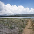 View south toward Big Bear Lake from Meadows Edge Picnic Area.- Meadows Edge Picnic Area